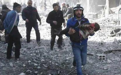 சிரியாவில் போராளிகள் வசம் உள்ள பகுதிகளில் அரசு படைகள் தாக்குதல்- 100 பேர் உயிரிழப்பு…