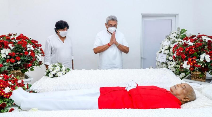 மார்ஷல் பெரேராவின் பூதவுடலுக்கு ஜனாதிபதி இறுதி மரியாதை
