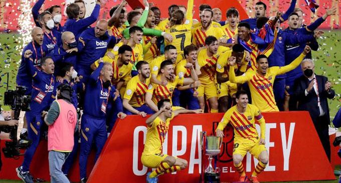 Copa Del Rey கிண்ணத்தை மீண்டும் கைப்பற்றியது பார்சிலோனா